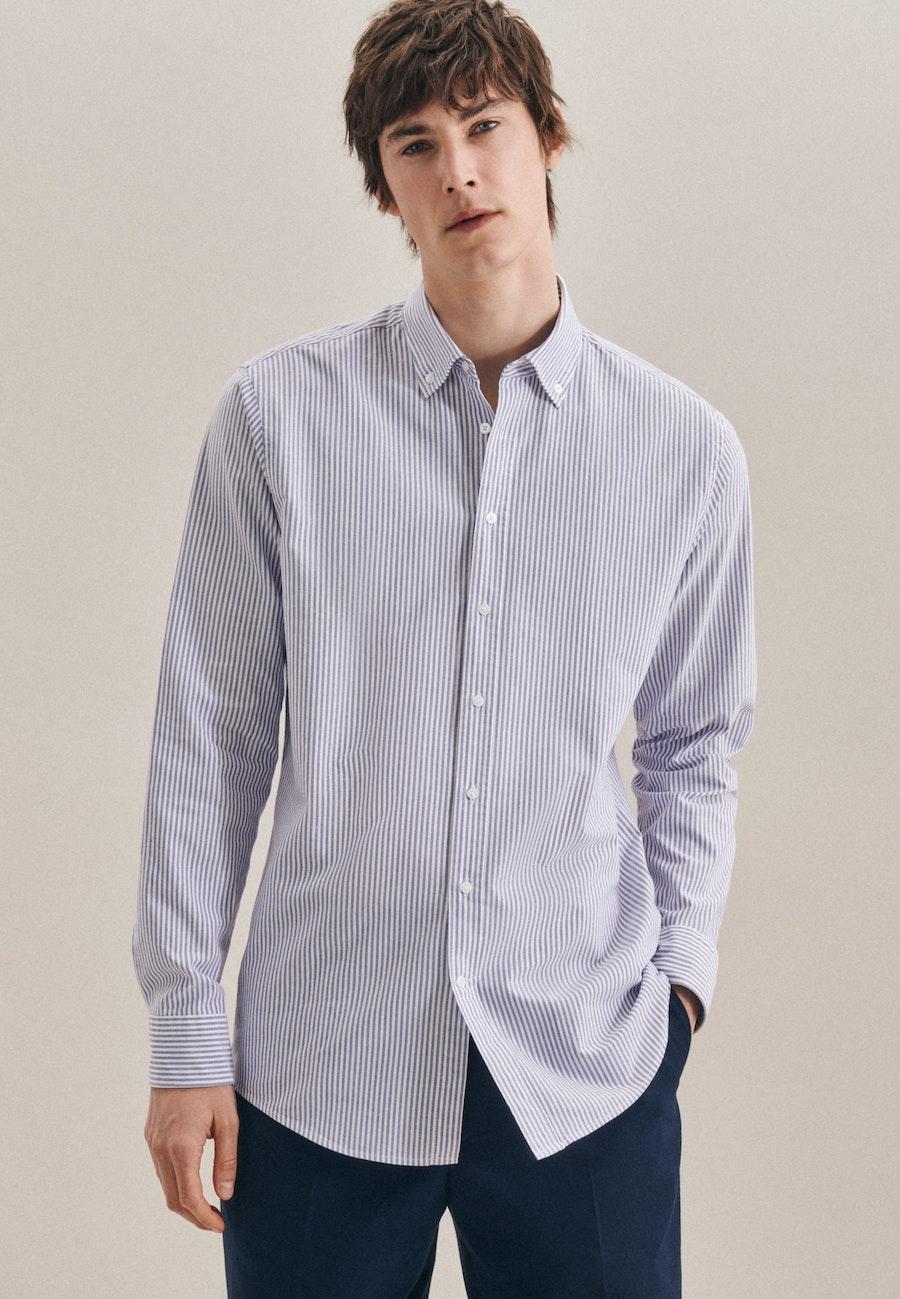 Oxfordhemd in Regular mit Button-Down-Kragen in Hellblau |  Seidensticker Onlineshop
