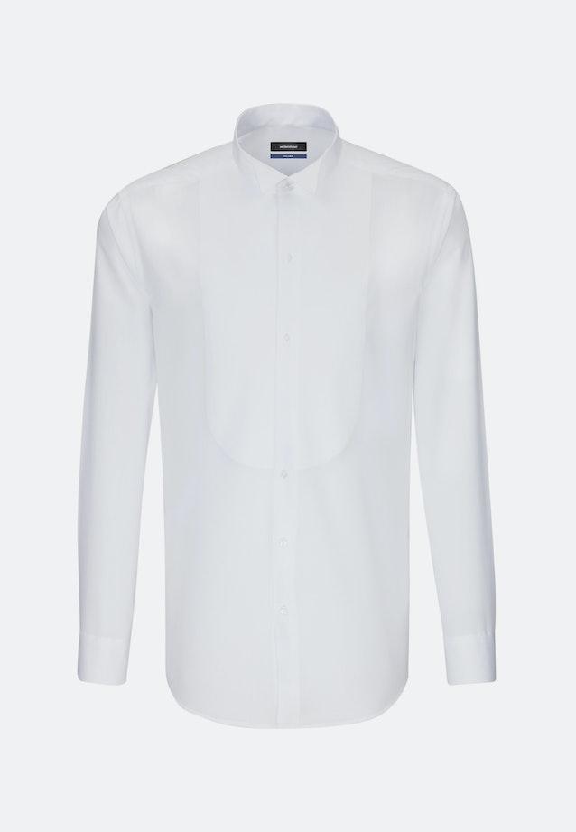 Bügelfreies Popeline Smokinghemd in Shaped mit Kläppchenkragen in Weiß |  Seidensticker Onlineshop