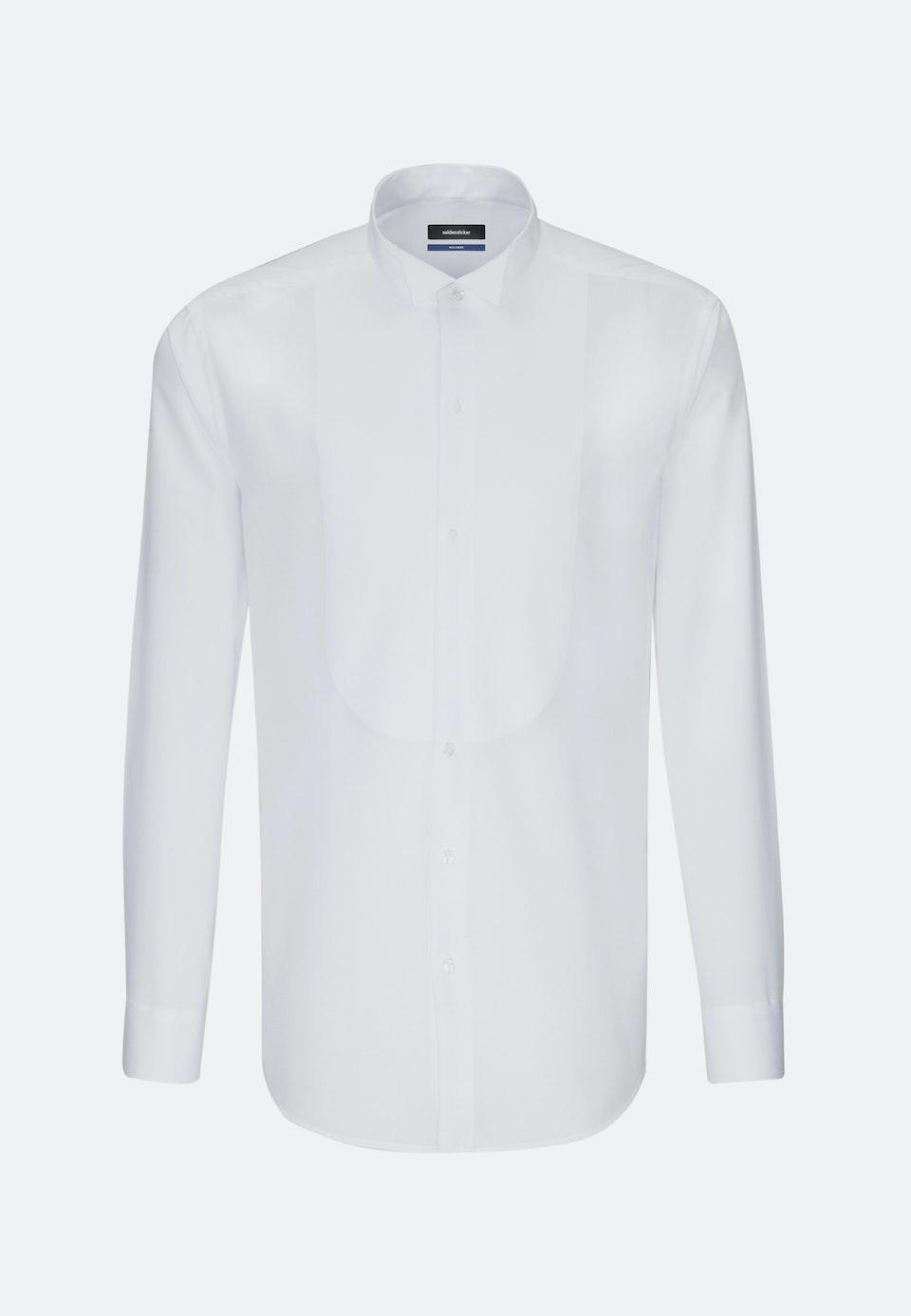 Bügelfreies Popeline Smokinghemd in Shaped mit Kläppchenkragen in Weiß    Seidensticker Onlineshop