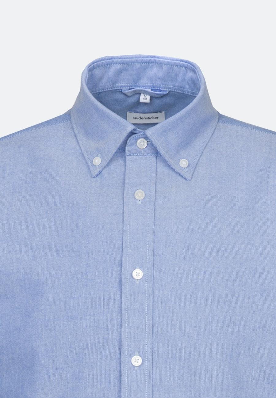 Bügelleichtes Oxford Business Hemd in X-Slim mit Button-Down-Kragen in Hellblau    Seidensticker Onlineshop