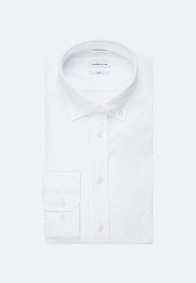 Oxfordhemd in X-Slim mit Button-Down-Kragen in Weiß |  Seidensticker Onlineshop