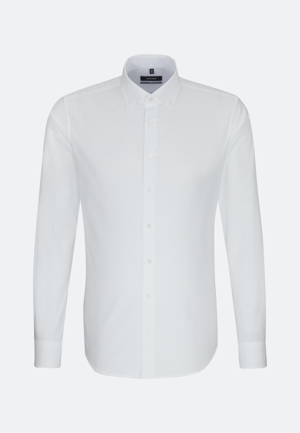 Bügelleichtes Oxford Business Hemd in X-Slim mit Button-Down-Kragen in Weiß |  Seidensticker Onlineshop