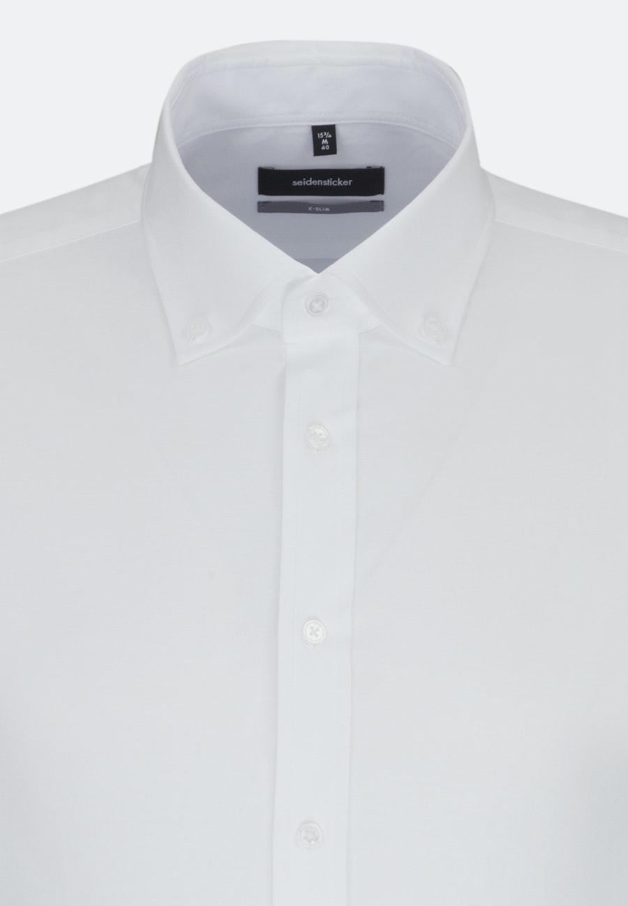Oxford shirt in X-Slim with Button-Down-Collar in White |  Seidensticker Onlineshop