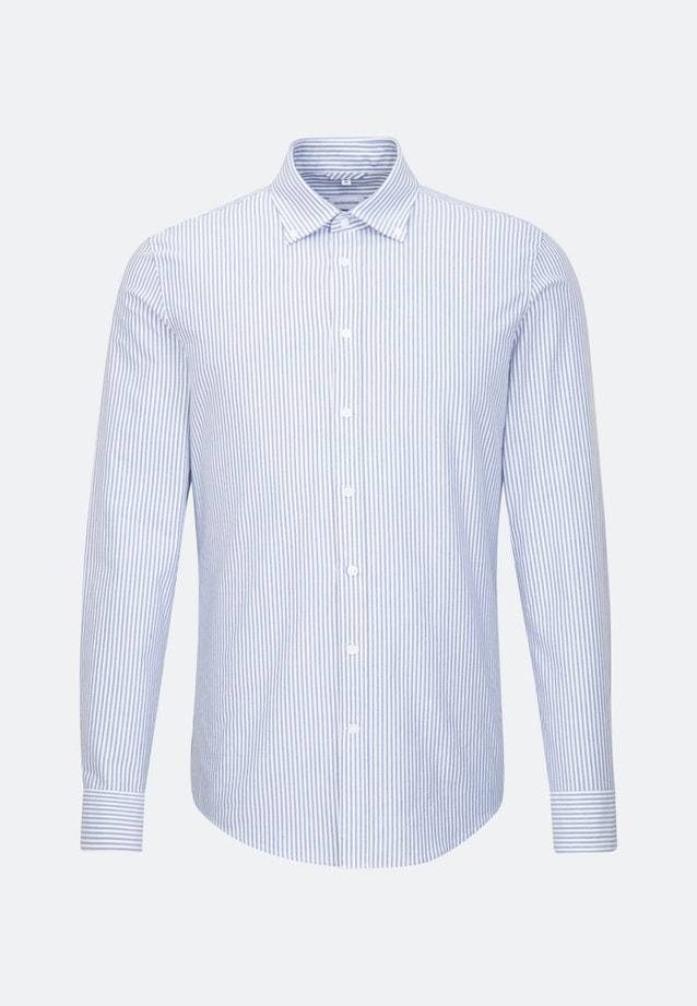 Easy-iron Oxford Business Shirt in Shaped with Button-Down-Collar in Light blue    Seidensticker Onlineshop