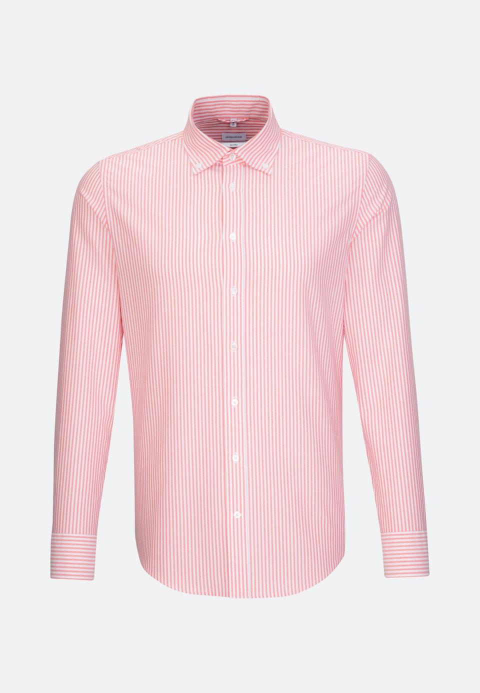 Bügelleichtes Oxford Business Hemd in Shaped mit Button-Down-Kragen in Rot |  Seidensticker Onlineshop
