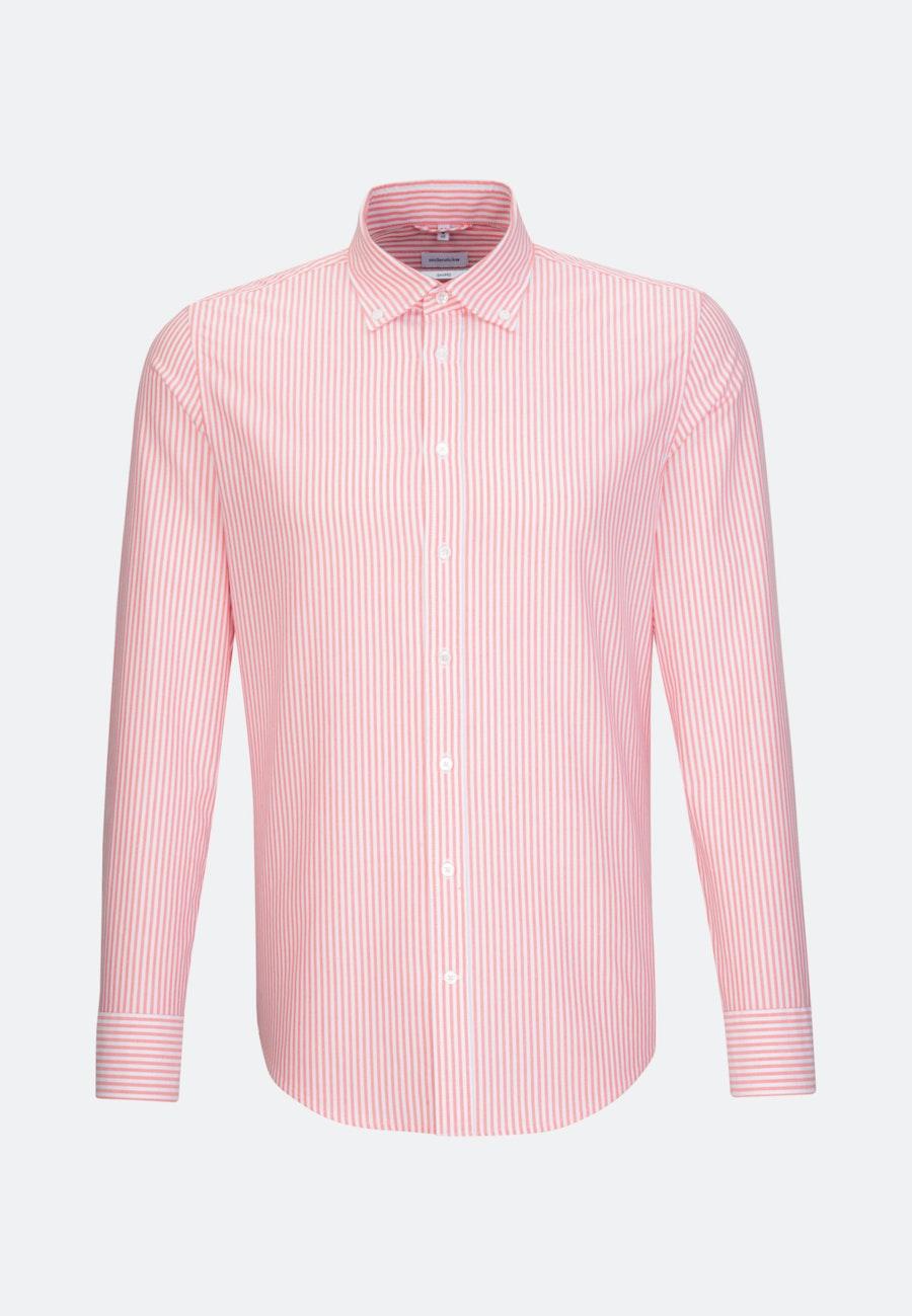 Oxfordhemd in Shaped mit Button-Down-Kragen in Rot |  Seidensticker Onlineshop