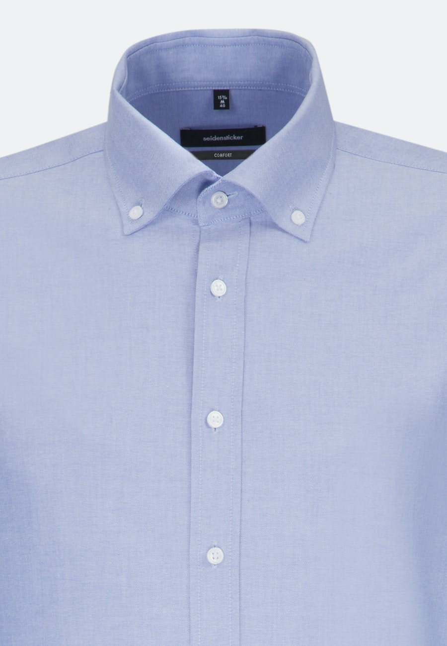 Easy-iron Oxford Business Shirt in Comfort with Button-Down-Collar in Light blue |  Seidensticker Onlineshop