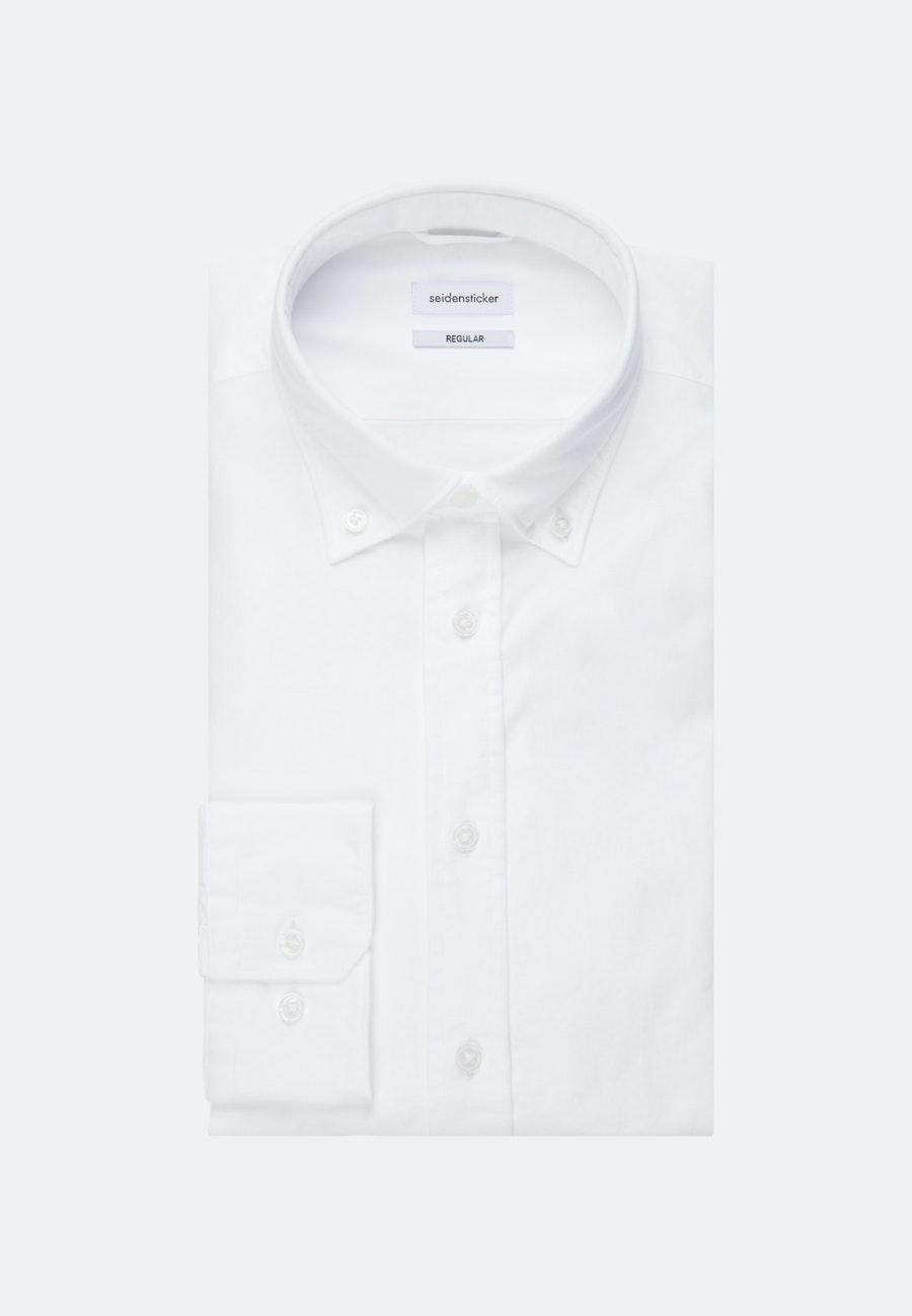 Oxford Business Hemd in Comfort mit Button-Down-Kragen in Weiß |  Seidensticker Onlineshop