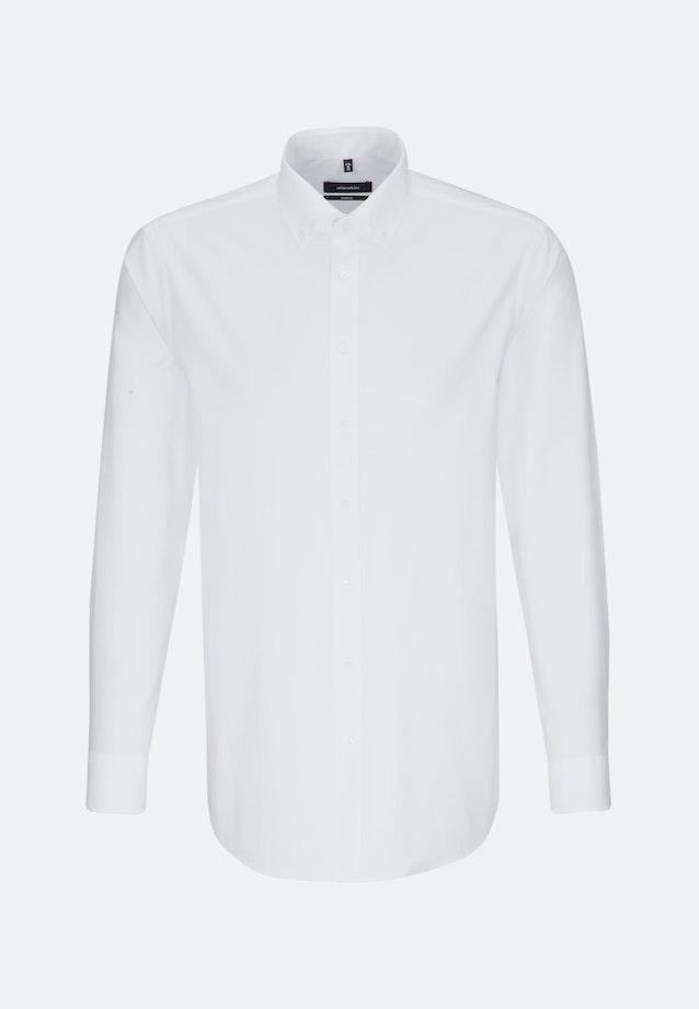 Easy-iron Oxford Business Shirt in Comfort with Button-Down-Collar in White |  Seidensticker Onlineshop