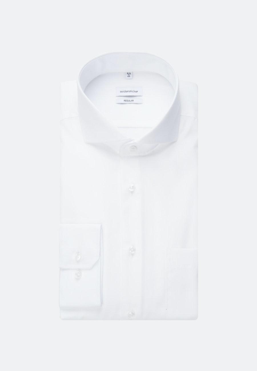 Non-iron Popeline Business Shirt in Regular with Shark Collar in White |  Seidensticker Onlineshop