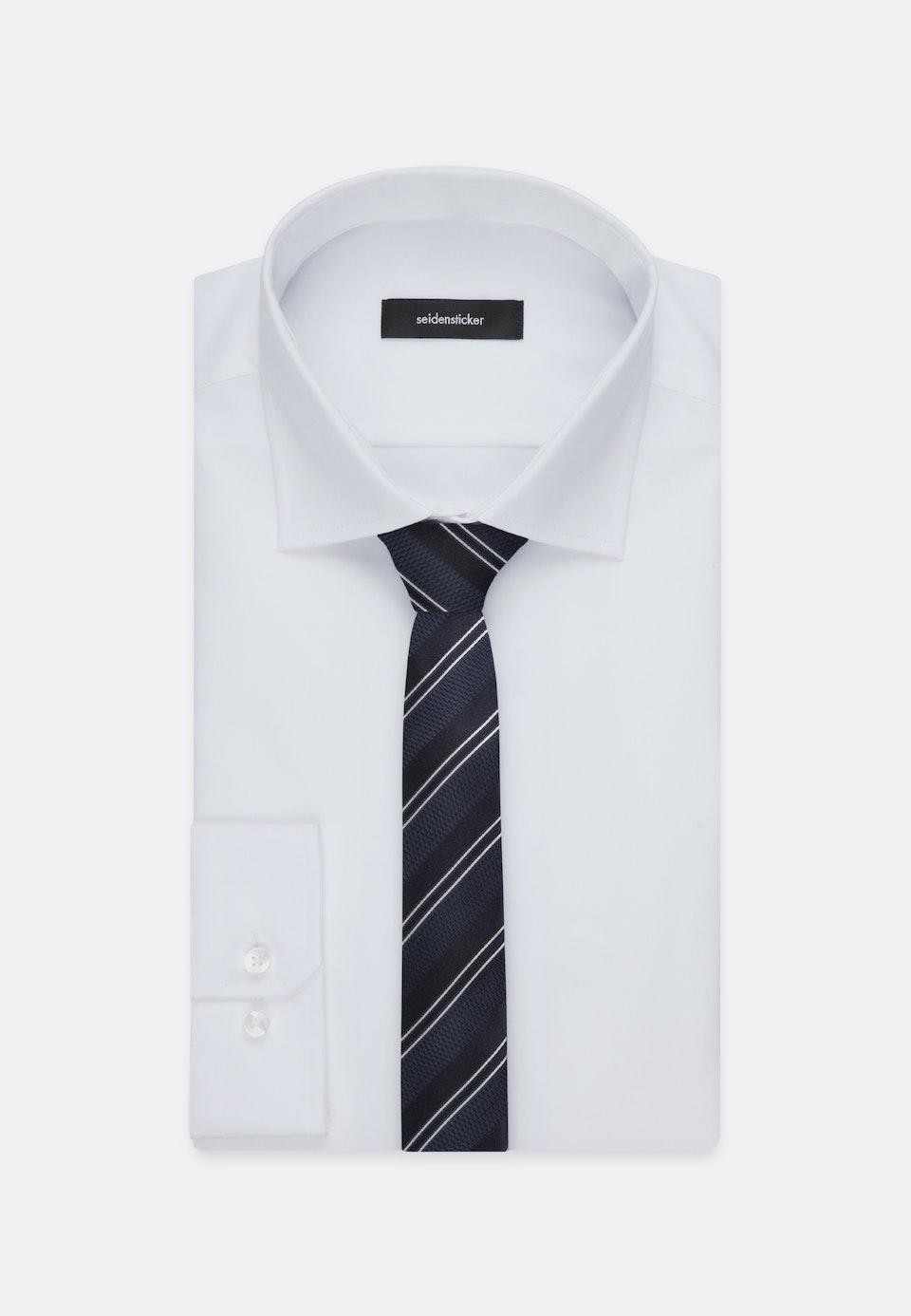 Tie made of 100% Silk 5 cm wide in Dark blue    Seidensticker Onlineshop