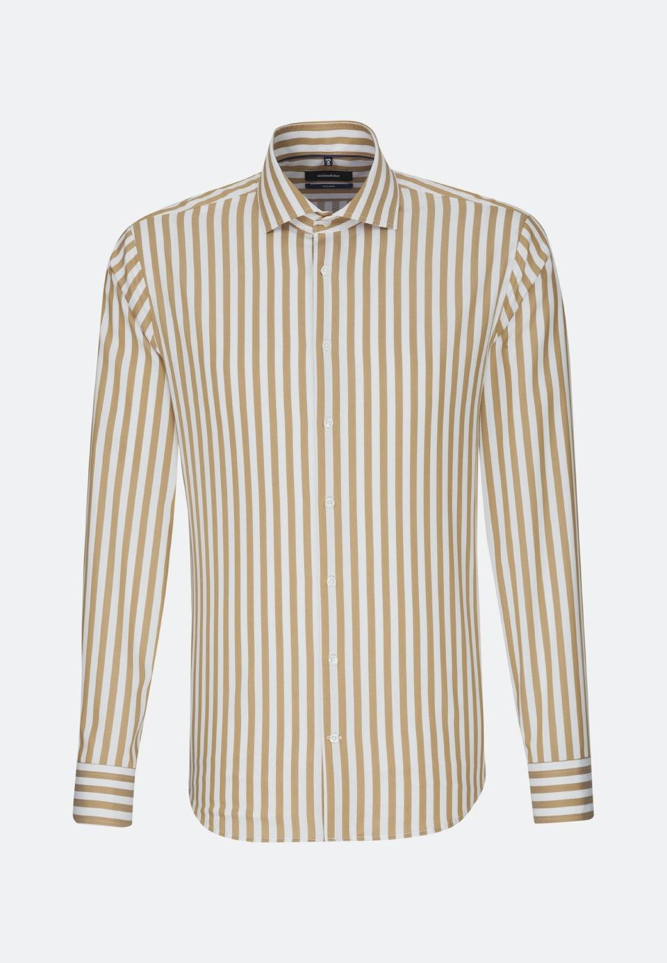 Bügelfreies Twill Business Hemd in Shaped mit Kentkragen in Braun |  Seidensticker Onlineshop