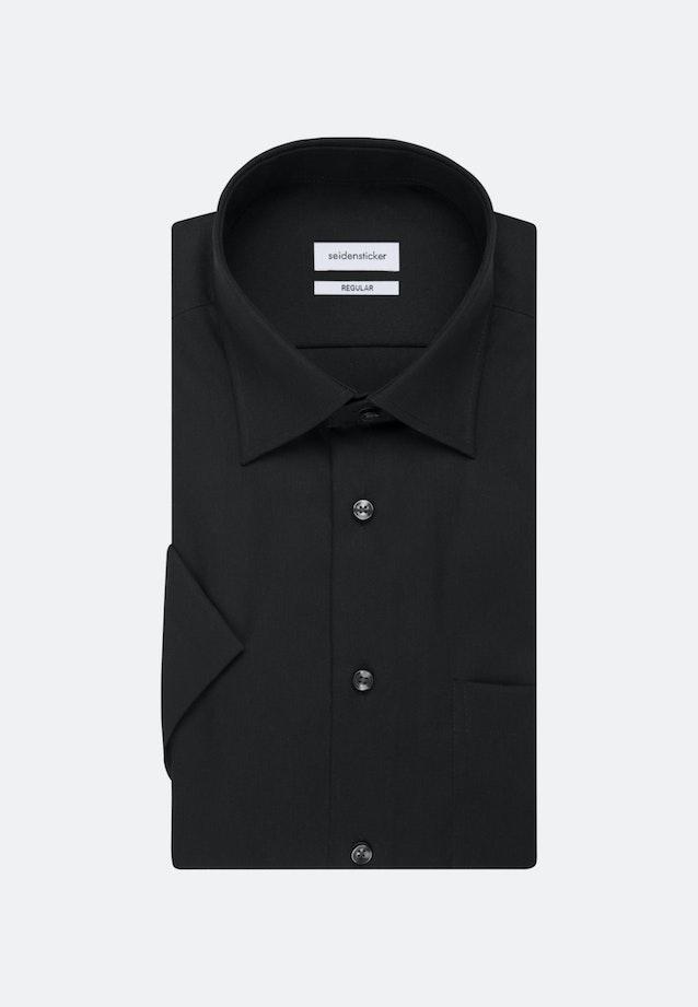 Non-iron Popeline Short sleeve Business Shirt in Regular with Kent-Collar in Black |  Seidensticker Onlineshop
