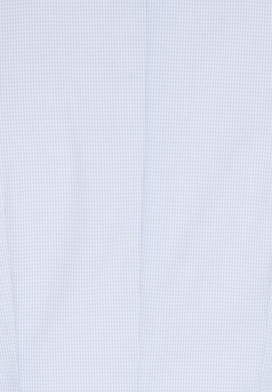Bügelfreie Popeline Kelchkragenbluse aus 100% Baumwolle in Hellblau    Seidensticker Onlineshop