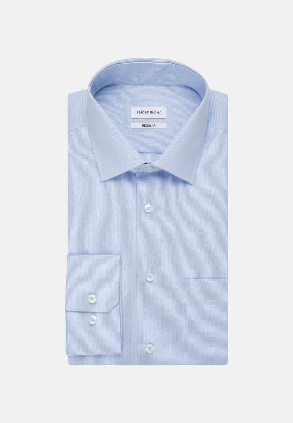 Non-iron Popeline Business Shirt in Regular with Kent-Collar in Light blue    Seidensticker Onlineshop