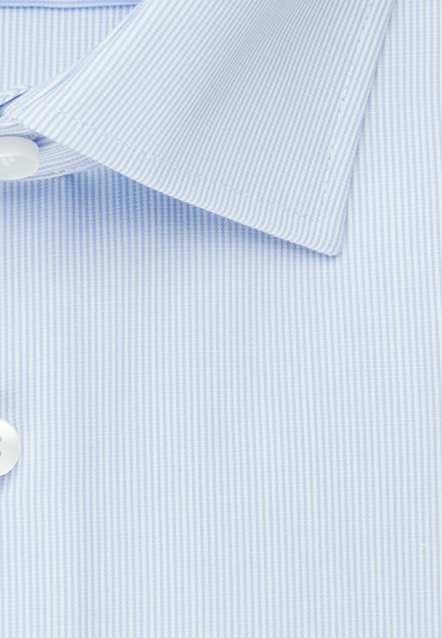 Non-iron Popeline Business Shirt in Shaped with Kent-Collar in Light blue |  Seidensticker Onlineshop