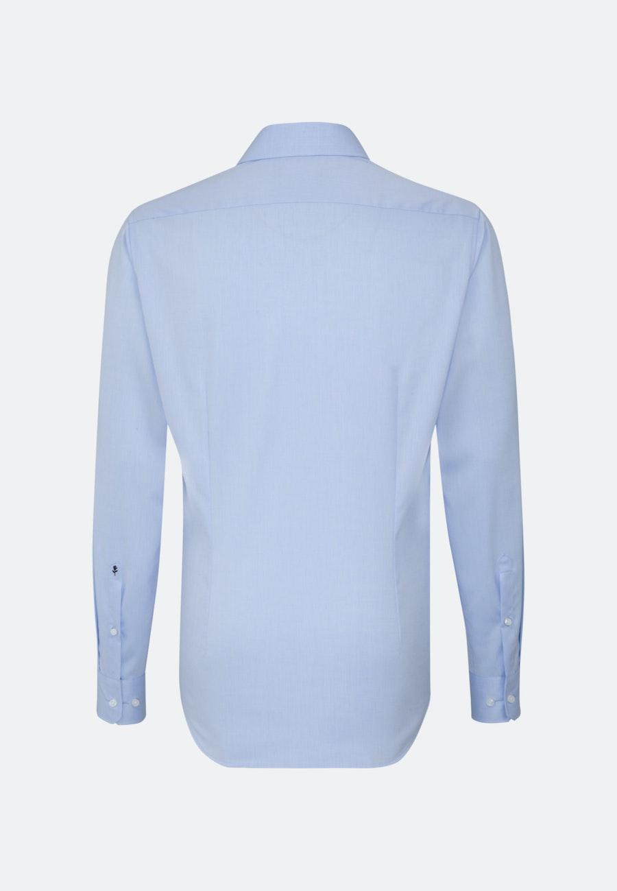 Non-iron Twill Business Shirt in Slim with Kent-Collar in Light blue    Seidensticker Onlineshop