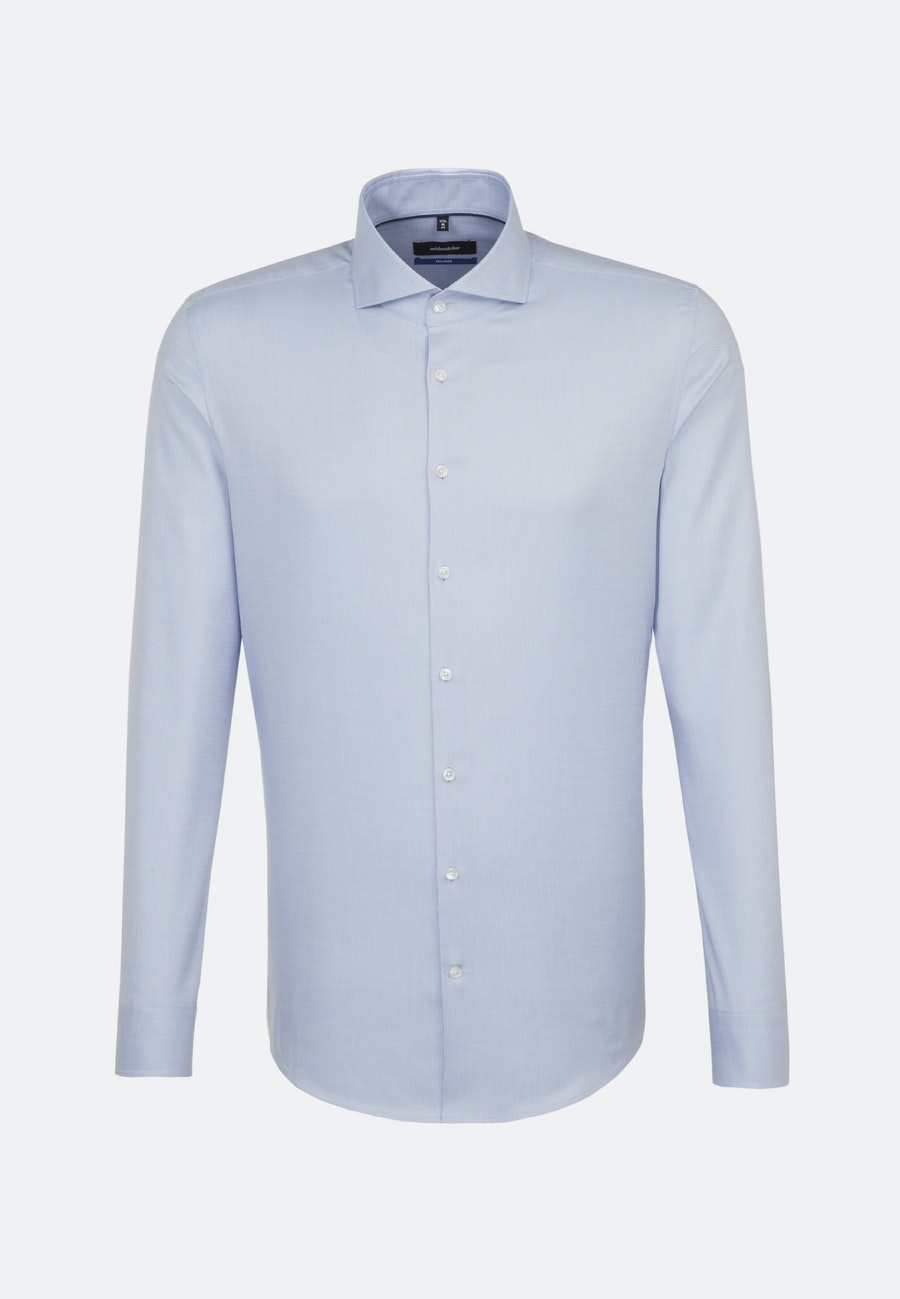 Easy-iron Structure Business Shirt in Shaped with Shark Collar in Light blue |  Seidensticker Onlineshop
