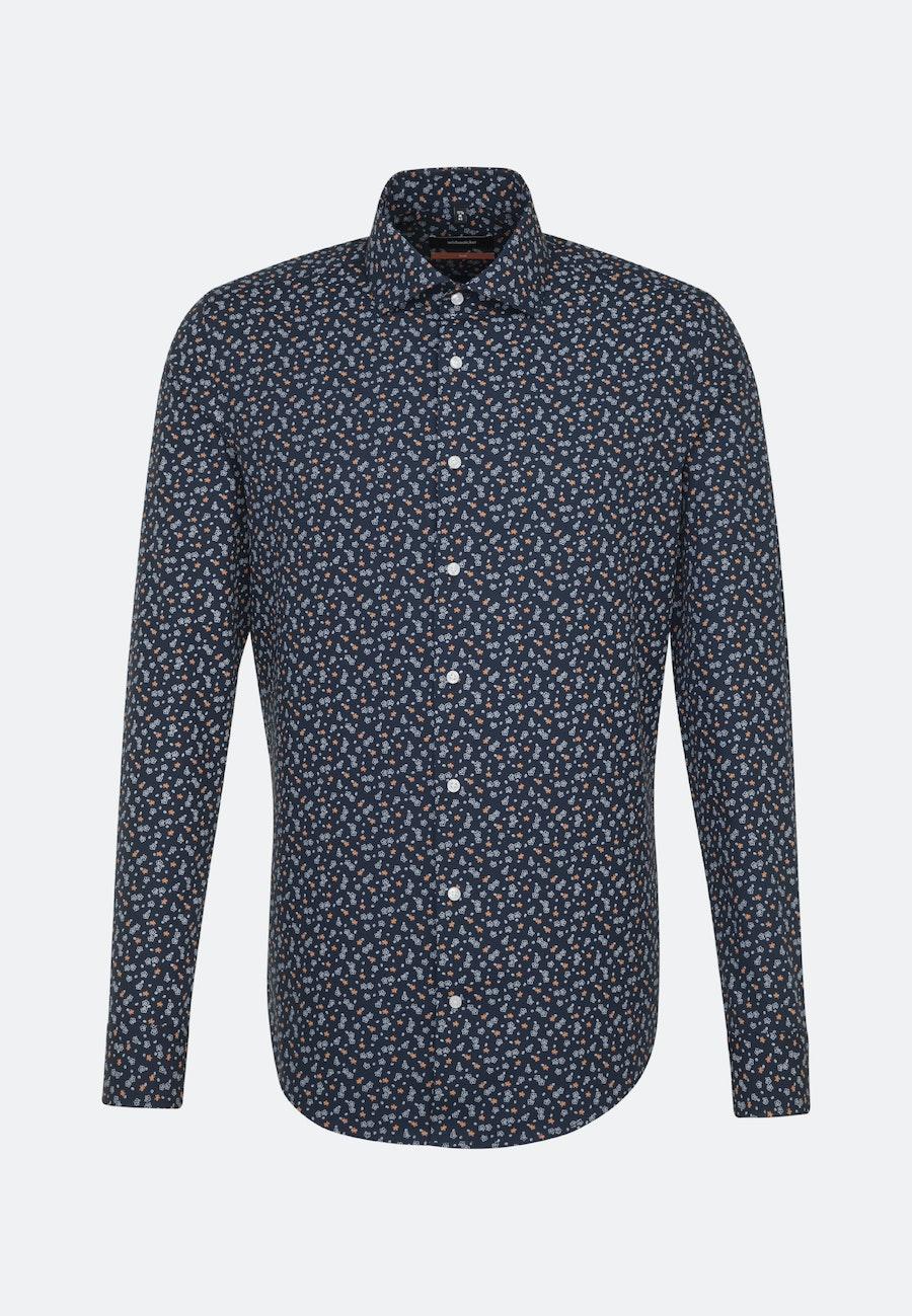 Easy-iron Popeline Business Shirt in Slim with Kent-Collar in Orange |  Seidensticker Onlineshop