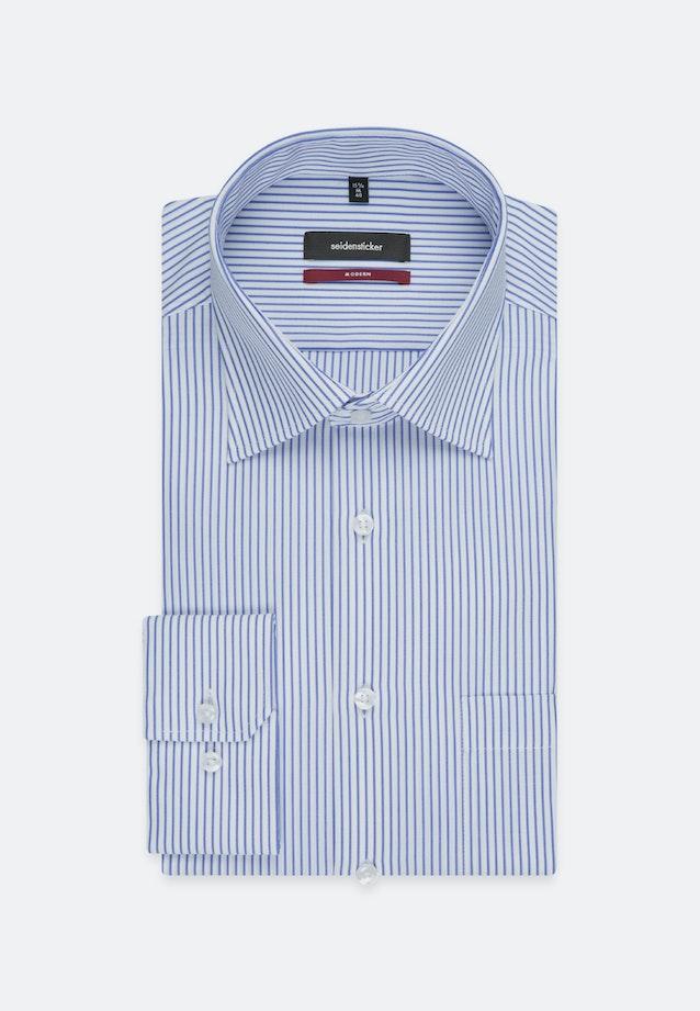 Non-iron Poplin Business Shirt in Regular with Kent-Collar and extra long sleeve in Light blue    Seidensticker Onlineshop