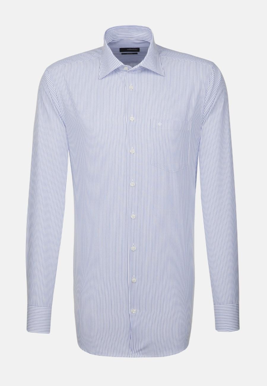 Non-iron Poplin Business Shirt in Regular with Kent-Collar and extra long sleeve in Light blue |  Seidensticker Onlineshop