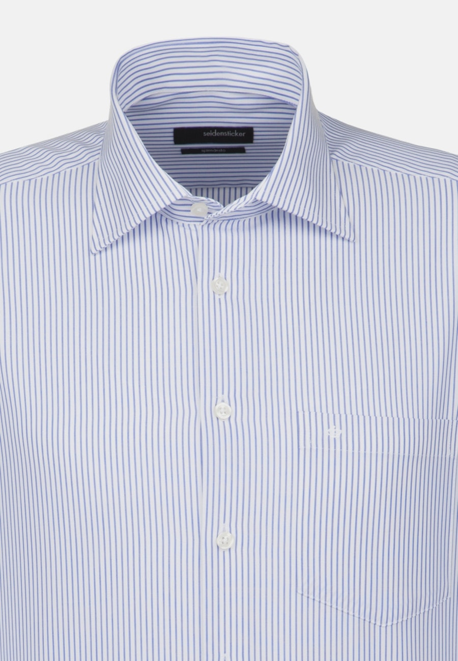 Non-iron Popeline Business Shirt in Regular with Kent-Collar and extra long sleeve in Light blue |  Seidensticker Onlineshop