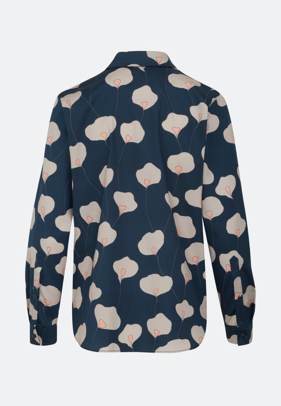 Satin Hemdbluse aus 100% Baumwolle in Dunkelblau    Seidensticker Onlineshop