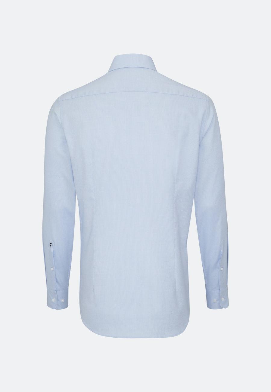 Non-iron Struktur Business Shirt in Shaped with Kent-Collar in Light blue    Seidensticker Onlineshop