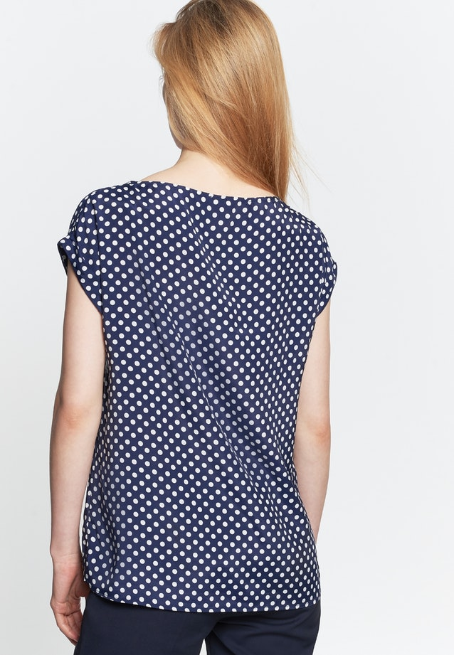 Sleeveless Voile Shirt Blouse made of 100% Viscose in Dark blue |  Seidensticker Onlineshop