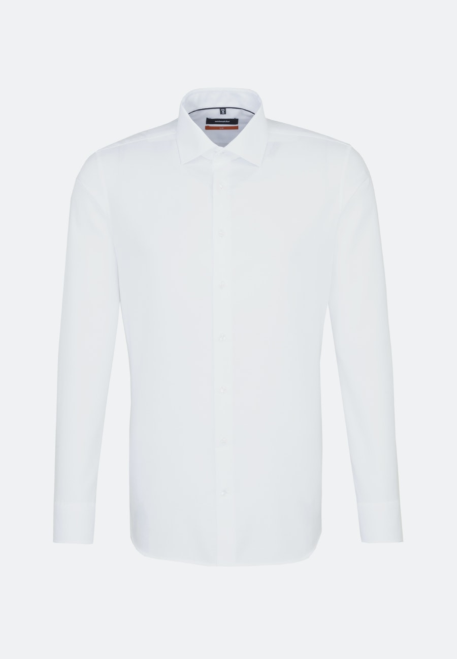 Non-iron Struktur Business Shirt in Slim with Kent-Collar in White |  Seidensticker Onlineshop