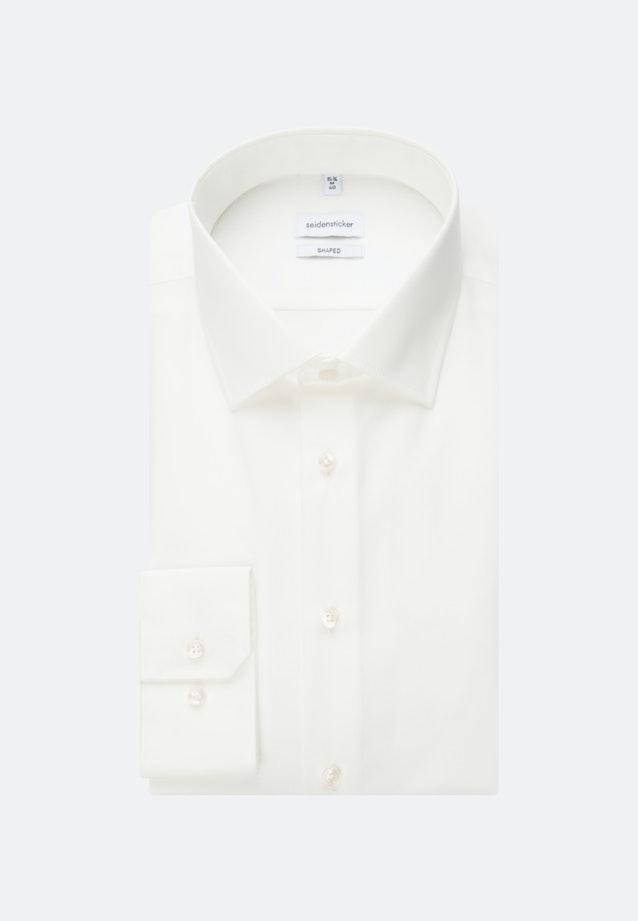 Non-iron Popeline Business Shirt in Shaped with Kent-Collar in Ecru |  Seidensticker Onlineshop