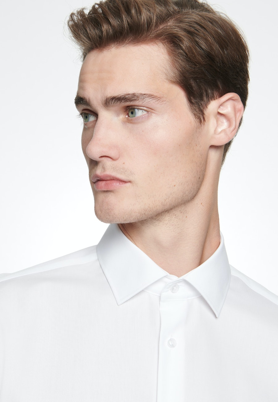 Non-iron Popeline Business Shirt in Shaped with Kent-Collar in White |  Seidensticker Onlineshop