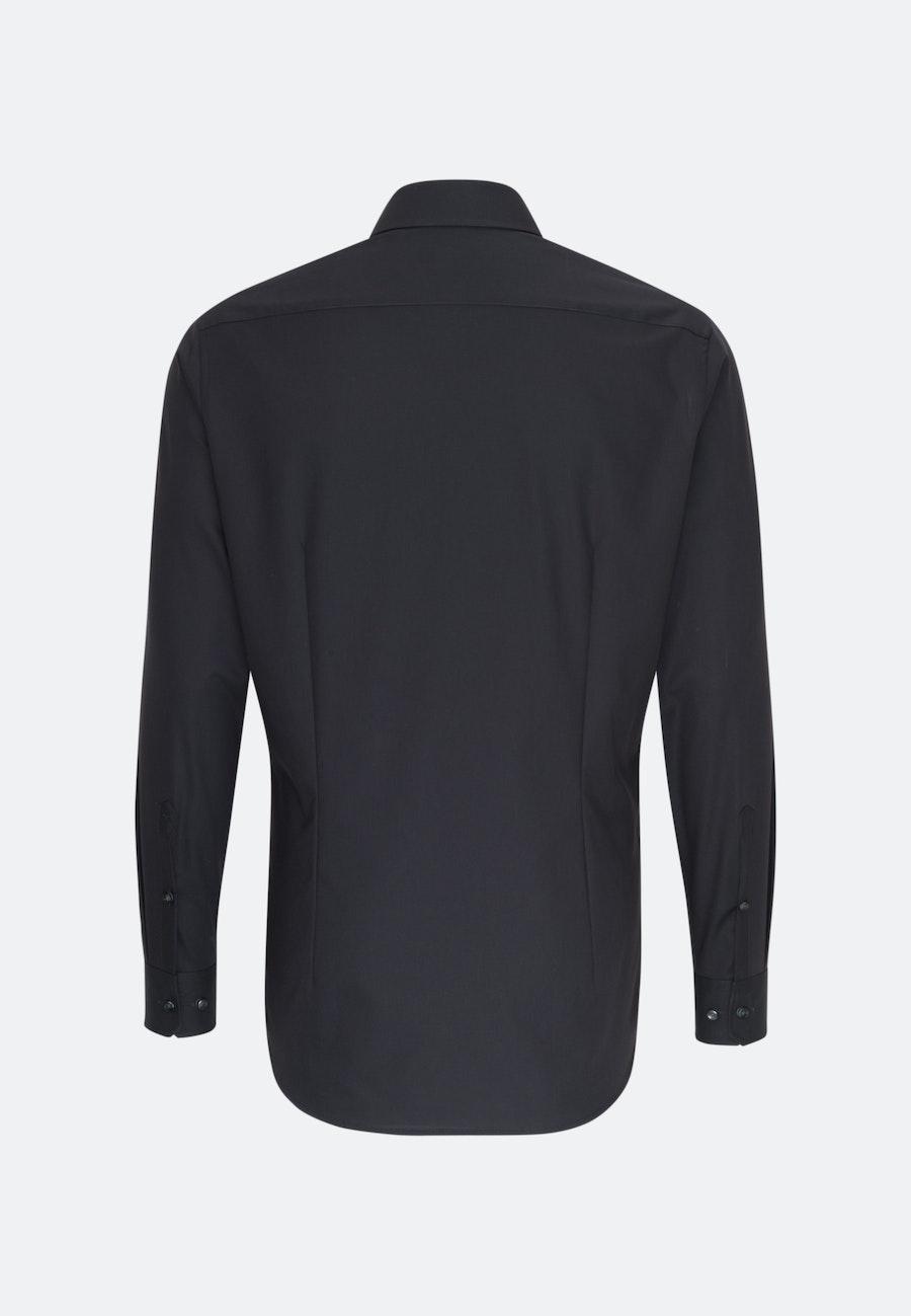 Non-iron Poplin Business Shirt in Shaped with Kent-Collar in Black    Seidensticker Onlineshop