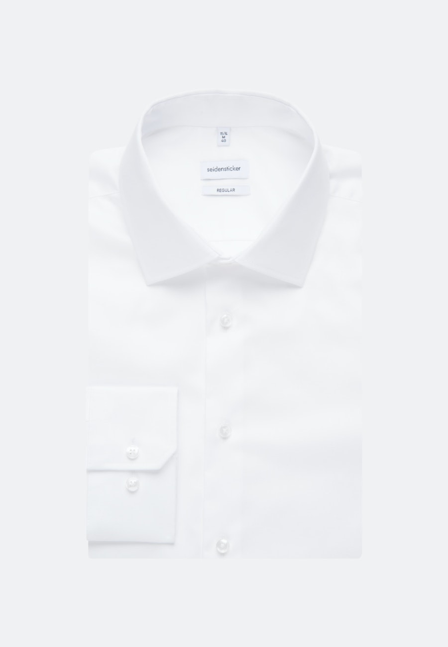 Non-iron Twill Business Shirt in Regular with Kent-Collar in White |  Seidensticker Onlineshop