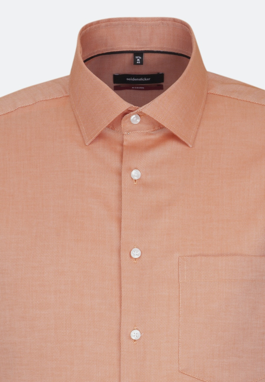 Non-iron Structure Business Shirt in Regular with Kent-Collar in Orange |  Seidensticker Onlineshop