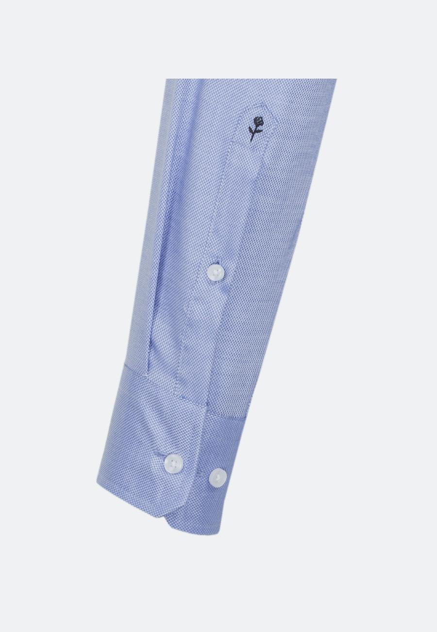 Non-iron Structure Business Shirt in Regular with Kent-Collar in Light blue |  Seidensticker Onlineshop