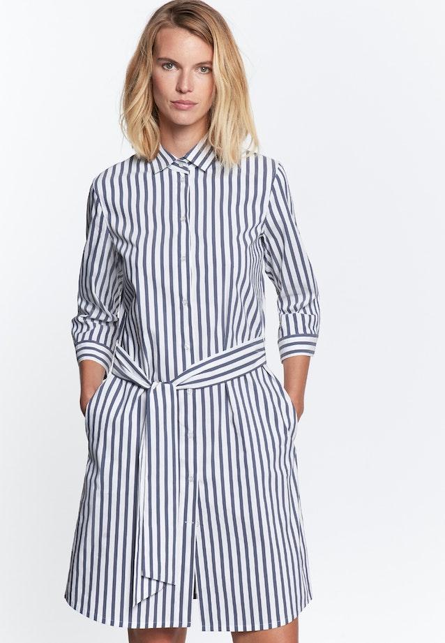 Popeline Midi Kleid aus Baumwollmischung in Dunkelblau |  Seidensticker Onlineshop