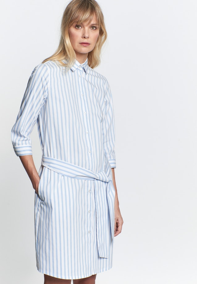 Poplin Midi Dress made of cotton blend in Light blue |  Seidensticker Onlineshop