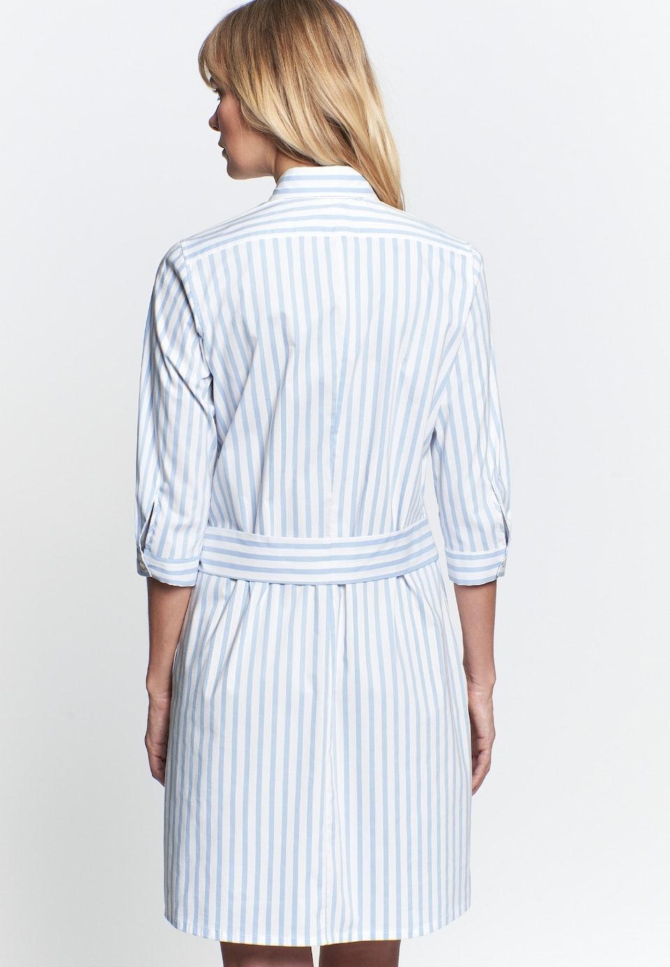 Popeline Midi Kleid aus Baumwollmischung in Hellblau |  Seidensticker Onlineshop