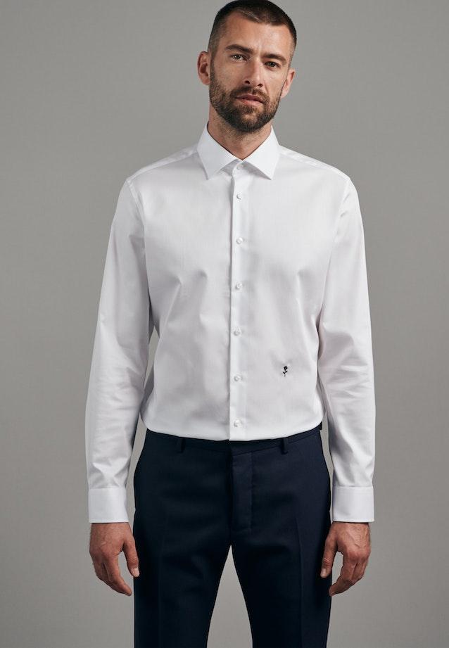 Bügelfreies Twill Business Hemd in Slim mit Kentkragen in Weiß |  Seidensticker Onlineshop