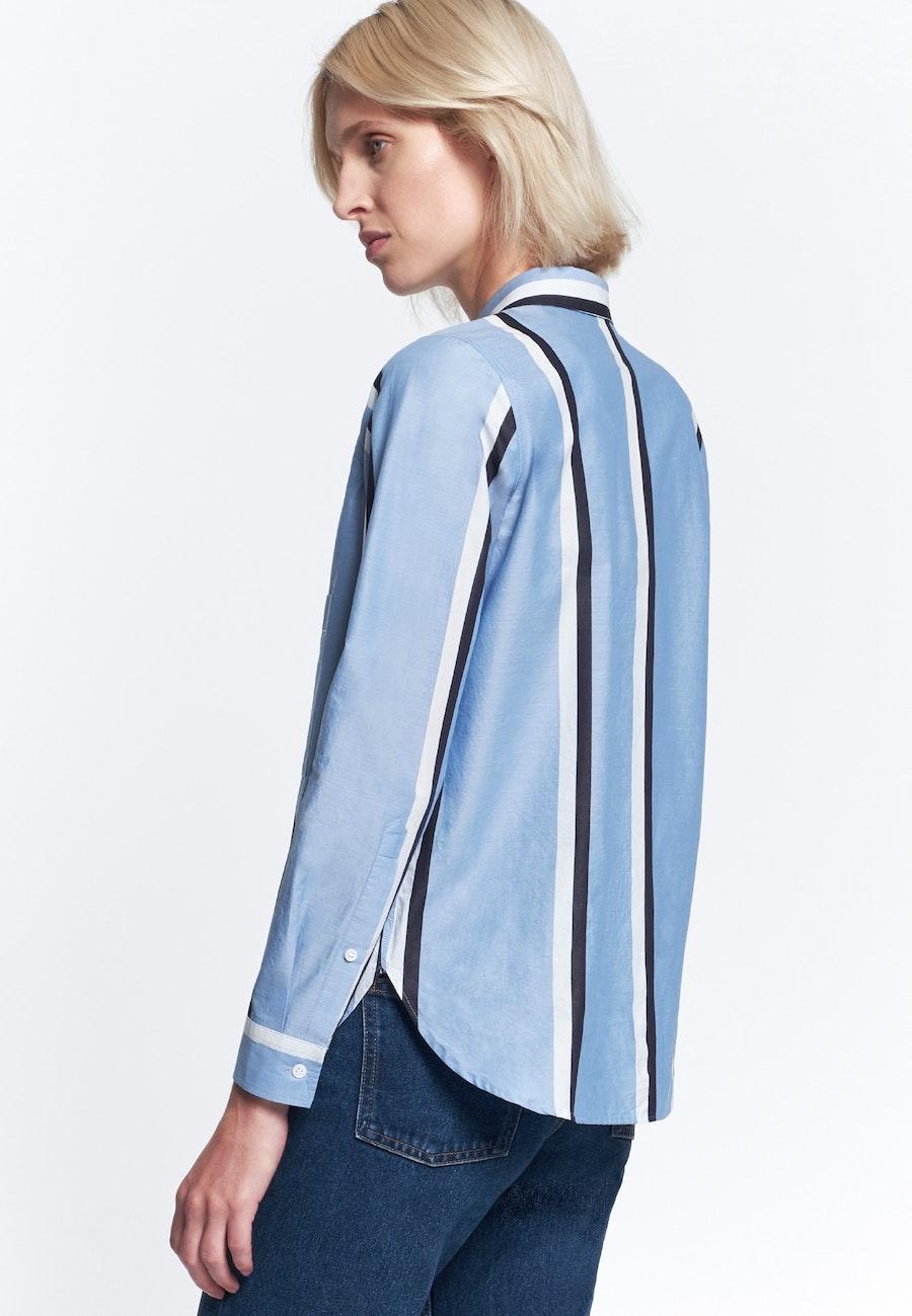 Structure Shirt Blouse made of 100% Cotton in Light blue    Seidensticker Onlineshop