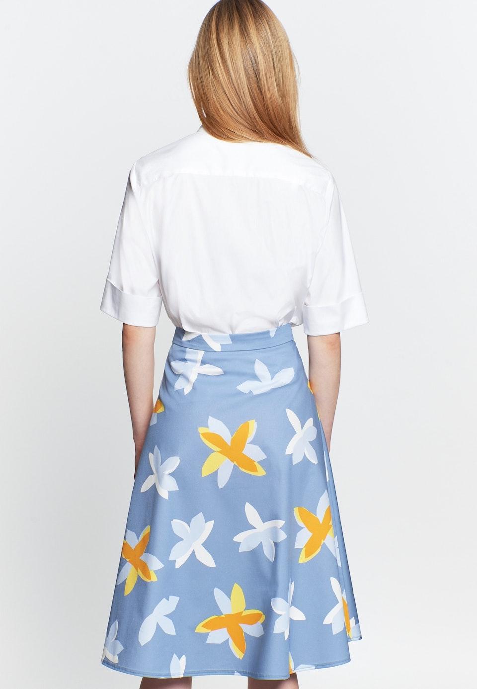 Satin Midi Skirt made of 100% Cotton in Medium blue |  Seidensticker Onlineshop