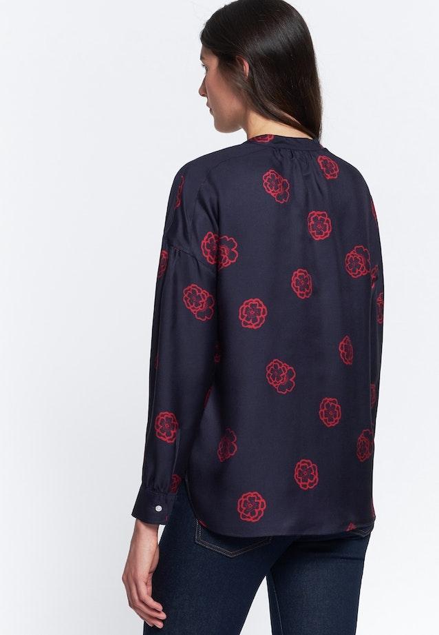 Voile Slip Over Blouse made of silk blend in Dark blue    Seidensticker Onlineshop