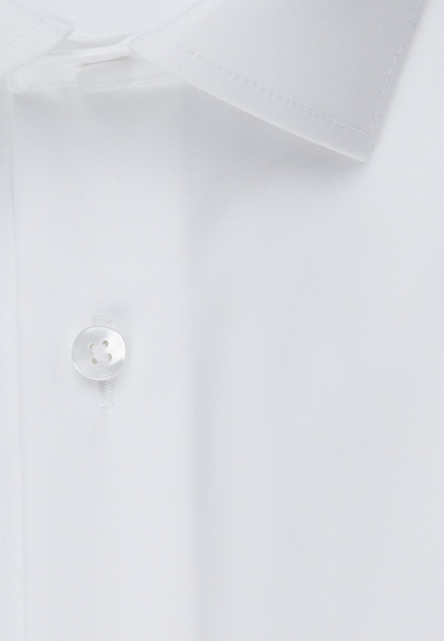 Non-iron Popeline Short sleeve Business Shirt in Shaped with Kent-Collar in White |  Seidensticker Onlineshop