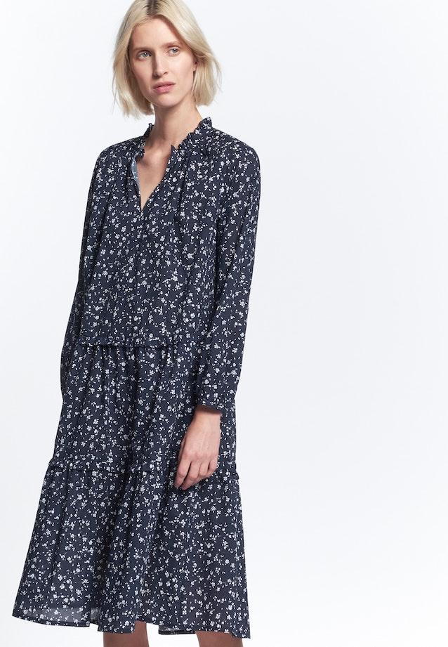 Voile Midi Kleid aus 100% Baumwolle in Dunkelblau |  Seidensticker Onlineshop