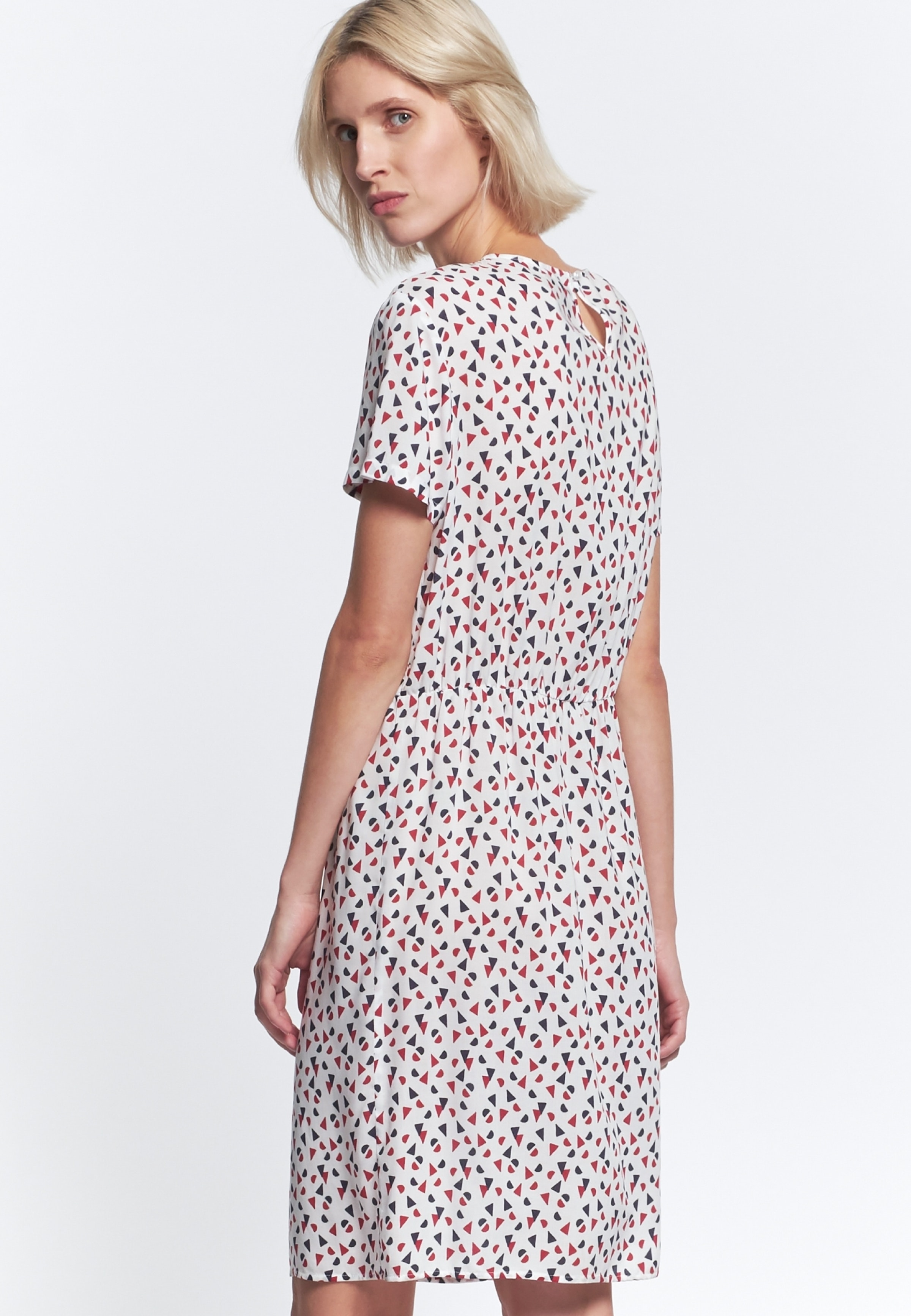 Damen Popeline Midi Kleid aus 100% Viskose rot 60.127892 ...