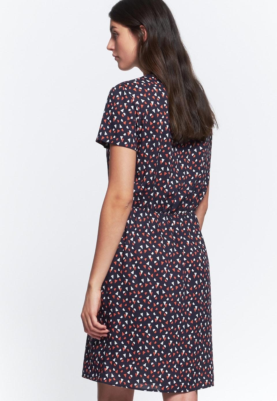 Popeline Midi Kleid aus 100% Viskose in Dunkelblau    Seidensticker Onlineshop