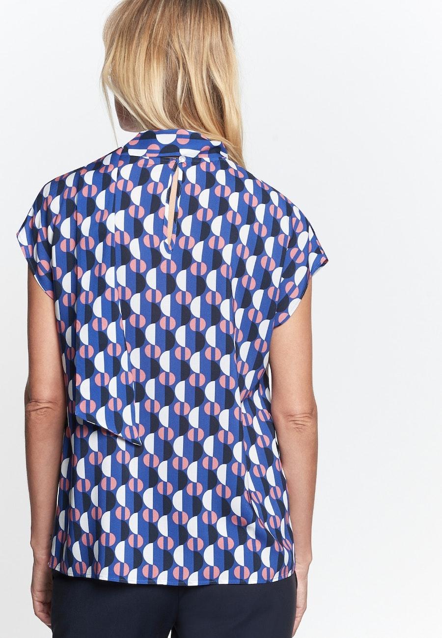 Ärmellose Voile Shirtbluse aus 100% Viskose in Mittelblau    Seidensticker Onlineshop