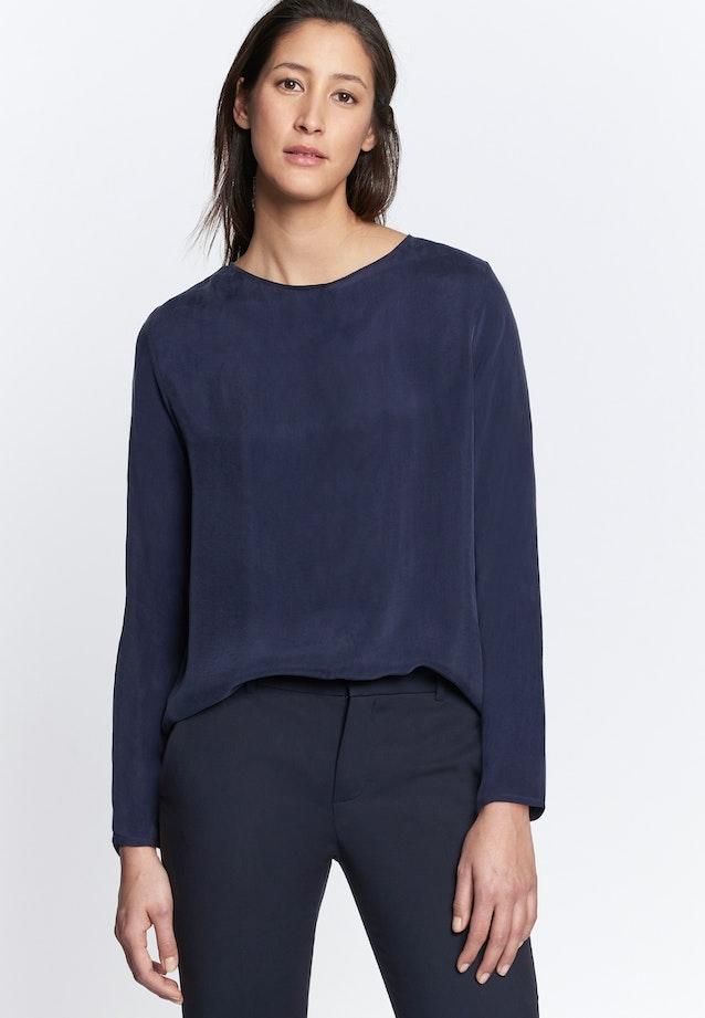 Shirtbluse aus Rayonmischung in Dunkelblau    Seidensticker Onlineshop