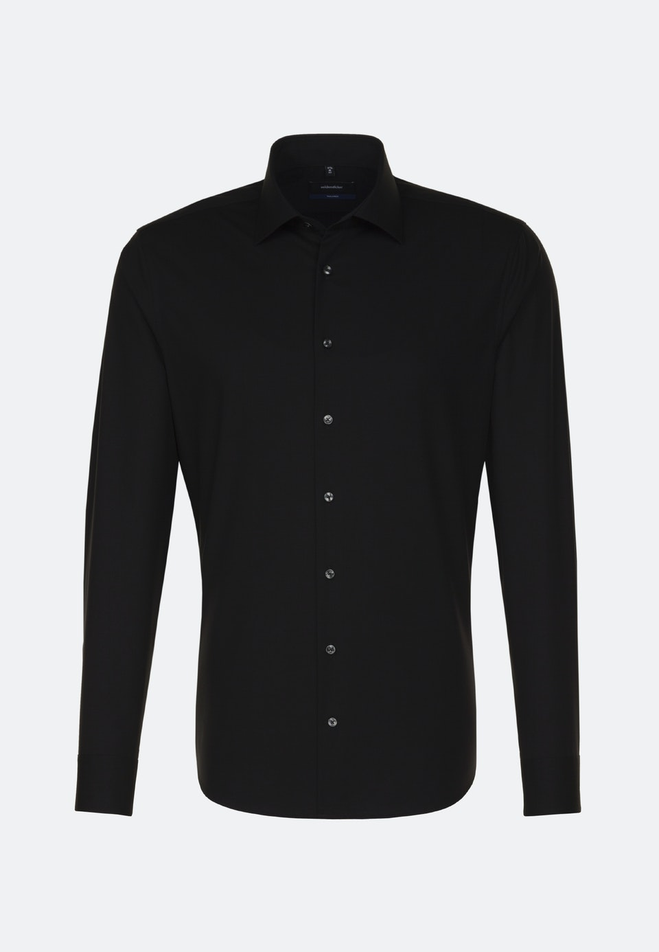 Non-iron Popeline Business Shirt in Shaped with Kent-Collar and extra long sleeve in Schwarz    Seidensticker Onlineshop